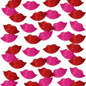 Glitter Lips Foam Stickers 60ct