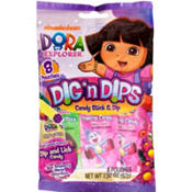 Dora the Explorer Candy Sticks & Dips 8ct