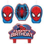 Spider-Man Birthday Candles 4ct