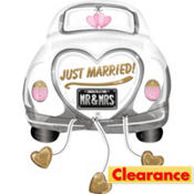 Just Married Balloon - Car