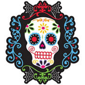 Sugar Skull Day of the Dead Cutout