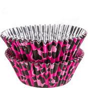 Pink Leopard Foil Baking Cups 36ct