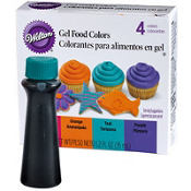 Neon Gel Food Coloring Set 4ct