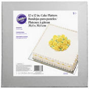 Silver Cake Boards 5ct