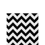 Black Chevron Beverage Napkins 36ct