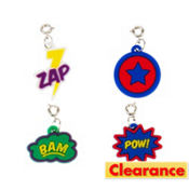 Loom Band Comic Charms 4ct