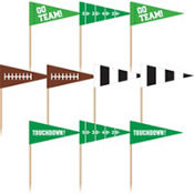 Football Cupcake Picks 36ct