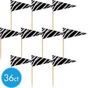 Zebra Cupcake Picks 36ct