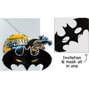 Jumbo Batman Invitations Deluxe 8ct