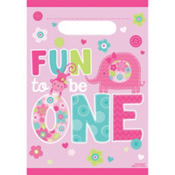 Wild at One Girl's 1st Birthday Favor Bags 8ct