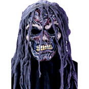 Hooded Zombie Skull Mask