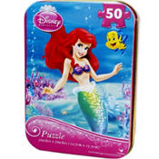 Disney Princess The Little Mermaid Puzzle Tin 50pc