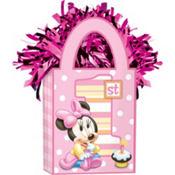 1st Birthday Minnie Mouse Balloon Weight
