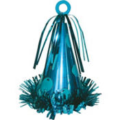Caribbean Blue Party Cone Balloon Weight