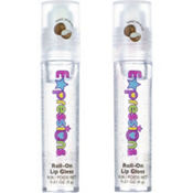 Clear Glitter Coconut Roll-On Lip Gloss 2ct