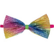 Child Rainbow Sequin Bow Elastic Headband