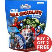 Avengers Mini Milk Chocolate Bars 18pc