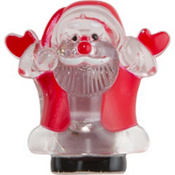 Light-Up Santa Christmas Pin