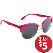 Bright Pink Horn-Rimmed Sunglasses