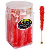 Red Rock Candy Sticks 18pc