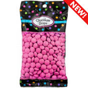 Bright Pink Chocolate Drops 380pc