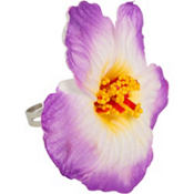Purple Hibiscus Flower Ring