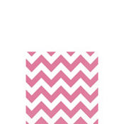 Bright Pink Chevron Beverage Napkins 16ct