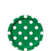 Festive Green Polka Dot Dessert Plates 8ct