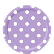 Lavender Polka Dot Lunch Plates 8ct