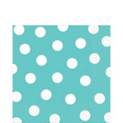 Robin's Egg Blue Polka Dot Lunch Napkins 16ct