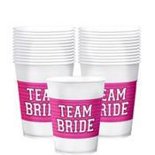 Team Bride Plastic Cups 25ct