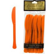 Orange Premium Plastic Knives 20ct