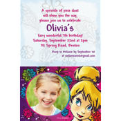 Custom Tinkerbell Keep Flying Photo Invitation