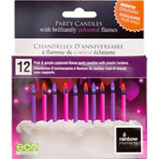 Pink & Purple Colored Flame Candles 12ct