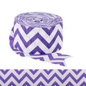Purple Chevron Streamer
