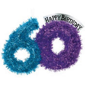 The Party Continues 60th Birthday Tinsel Decoration