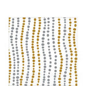 Silver & Gold Wavy Dots Lunch Napkins 16ct