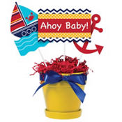 Ahoy Nautical Baby Shower Centerpiece Sticks 3ct