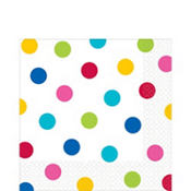 Bright Polka Dot Lunch Napkins 16ct