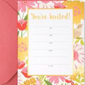 Metallic Chic Floral Invitations 20ct