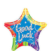 Good Luck Prismatic Star Balloon 19in