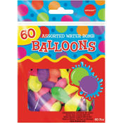Water Bomb Balloon Assortment  60ct