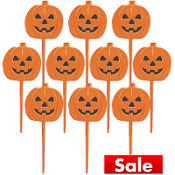 Pumpkin Party Picks 10ct