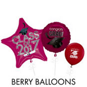 Berry Graduation Balloons