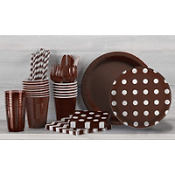 Chocolate Brown Polka Dot Party Supplies