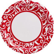 Red Ornamental Scroll Party Supplies