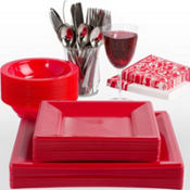 Red Premium Tableware