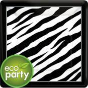 Zebra Print Square Party Supplies
