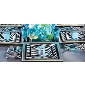 Zebra Print Square Party Supplies