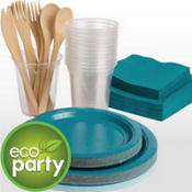 Eco Friendly Peacock Blue Tableware